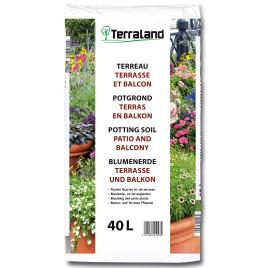 Terreau pour terrasse et balcon 40 L TERRALAND