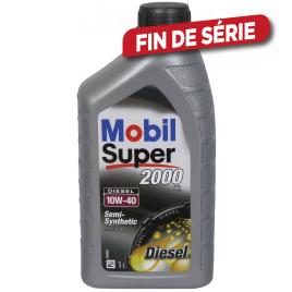Huile moteur Semi-Synthetic Super 2000 X1 Diesel 10W-40 1 L MOBIL