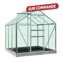 Serre en verre sécurit Intro Grow Daisy 3,8 m² en aluminium ACD