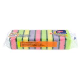 Eponges à récurer colorées (10 pièces)