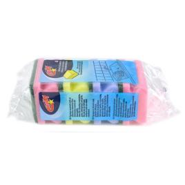 Eponges avec poignées multicolores ( 4pièces)