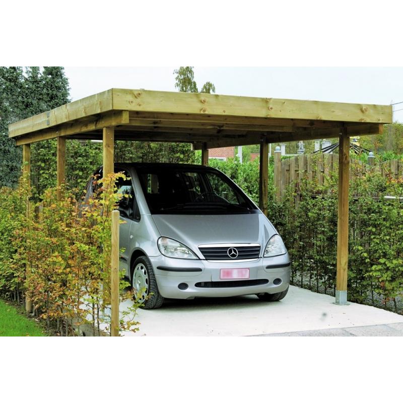 Carport Pour Voiture carport pour voiture leipzig 3,04 x 5,1 x 2,1 m cartri