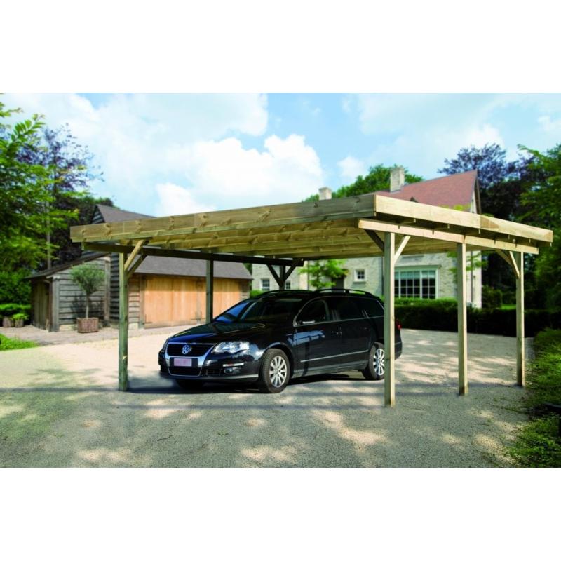 Carport Pour Voiture double carport en bois de sapin pour voiture saarbrûcker cartri