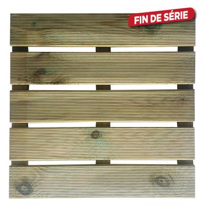 Dalle pour terrasse en bois rainuré Karo CARTRI