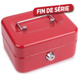 Coffre à monnaie TOOLLAND - Rouge - 11 x 15 x 8 cm