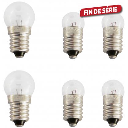 Ampoules de réserve pour phare de vélo 6 pièces