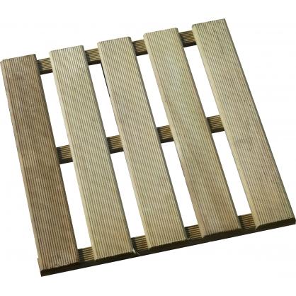 Dalle en bois 40 x 40 x 2,4 cm SOLID
