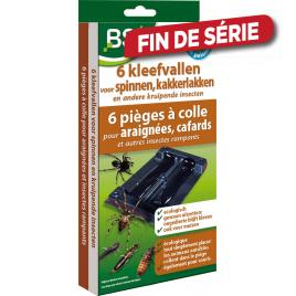Piège à colle pour araignées, cafards et autres insectes rampants 6 pièces BSI