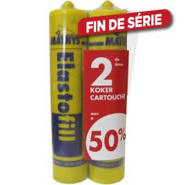 Duopack Mastic elastofill blanc 2 x 310 ml
