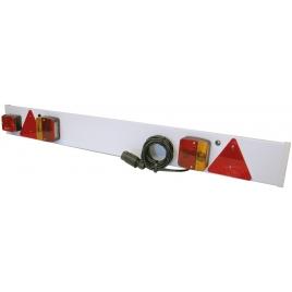 Barre d'éclairage arrière pour remorque 120 x 14 cm