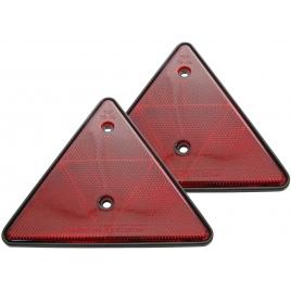 Catadioptres triangulaires pour remorque 2 pièces