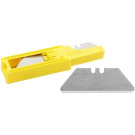 Lames de cutter à bout arrondi 10 pièces par distributeur 62 mm STANLEY