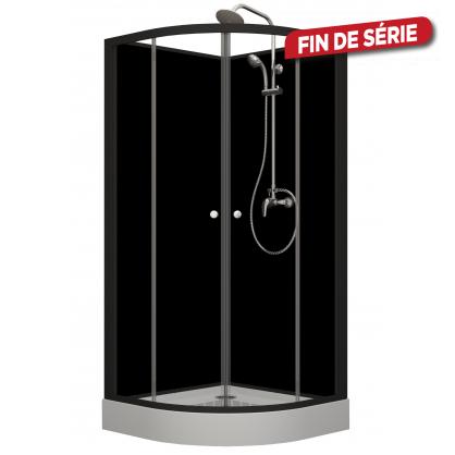 cabine de douche black happy allibert. Black Bedroom Furniture Sets. Home Design Ideas
