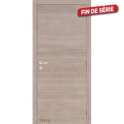 Bloc-porte fini S63 Laminado lisse Chêne gris horizontale