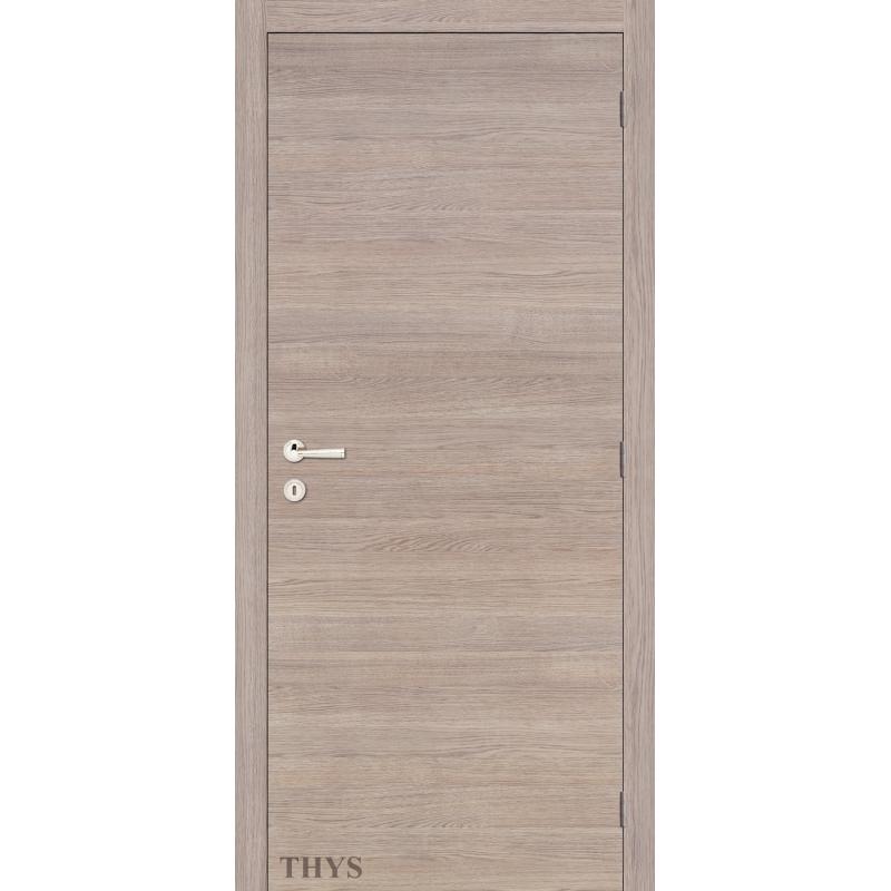 bloc porte fini s63 laminado lisse ch ne gris horizontale thys. Black Bedroom Furniture Sets. Home Design Ideas