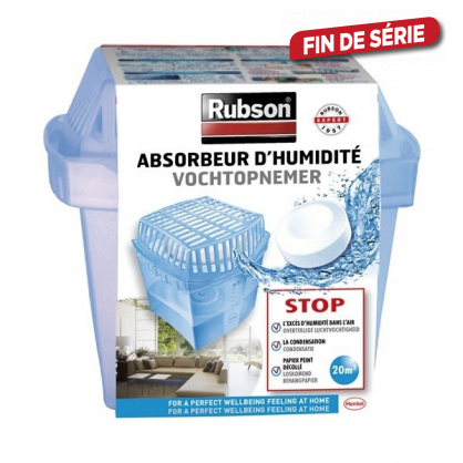 Absorbeur d'Humidite Classic 20m² + 1 TAB 450 g RUBSON