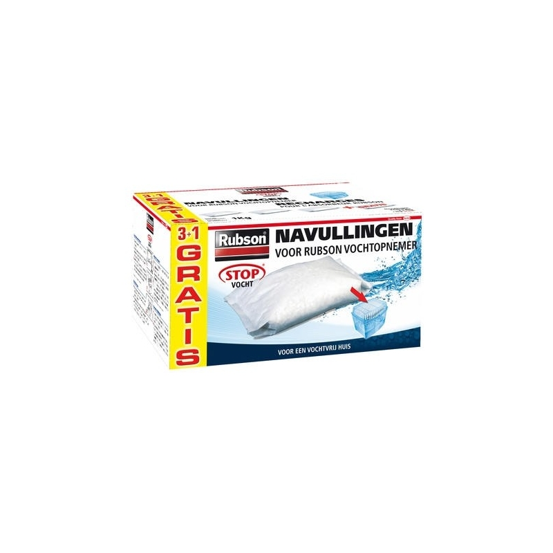 Recharge absorbeur classic 4 kg rubson - Recharge absorbeur d humidite rubson ...
