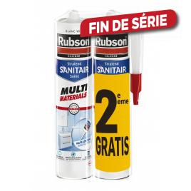 Duopack Mastic sanitaire multi matériaux 2 x 280 ml RUBSON