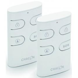 Télécommande 4 touches pour alarme sans fil 2 pièces CHACON