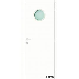 Bloc-porte à peindre S10 303 avec hublot THYS