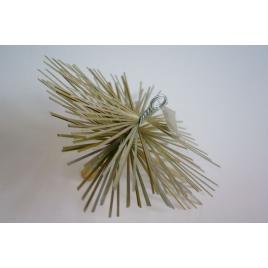 Brosse ramonage métallique carrée - 20cm
