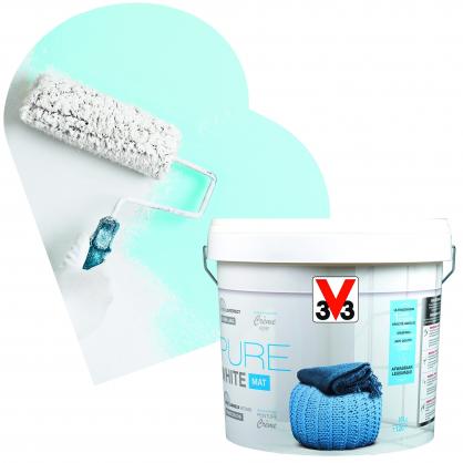 peinture blanche pure white blanc 10 l. Black Bedroom Furniture Sets. Home Design Ideas