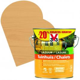 Lasure Chalets Satiné 2,5 + 0.5 L Promopack V33