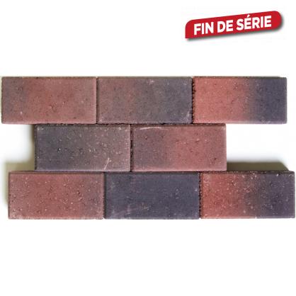 Pavé en béton rouge-noir 22 x 11 x 5 cm