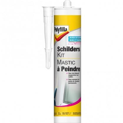 Mastic à peindre blanc 0,31 L POLYFILLA