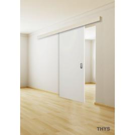 Bloc porte mdf noir s10 design 1510 thys - Porte coulissante entrepot du bricolage ...