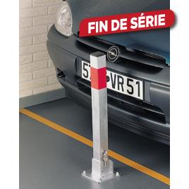 Poteau block de parking rabattable