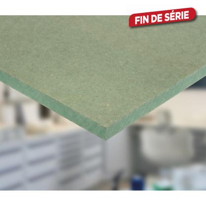 Panneau MDF hydrofuge vert 122 x 244 x 1,8 cm