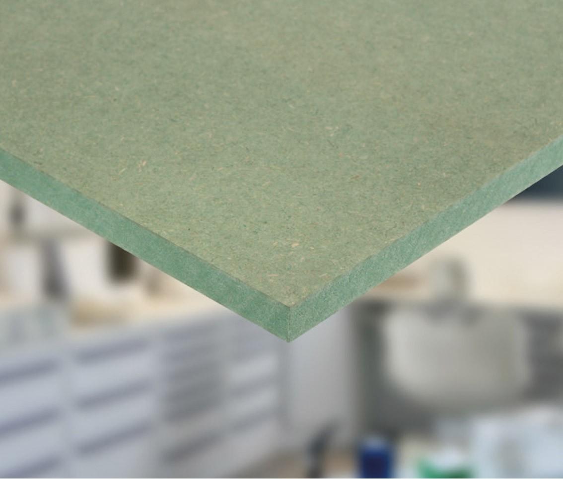 Panneau MDF hydrofuge vert 199 x 199 x 19,19 cm - Mr.Bricolage
