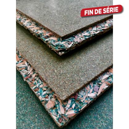 Panneau aggloméré hydrofuge Durelis dalles 18 x 610 x 2440 mm