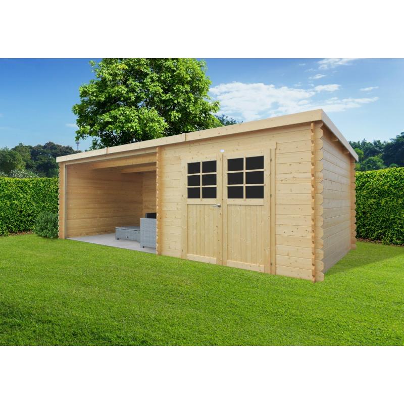 abri de jardin rohan 2 74 x 6 65 m solid. Black Bedroom Furniture Sets. Home Design Ideas