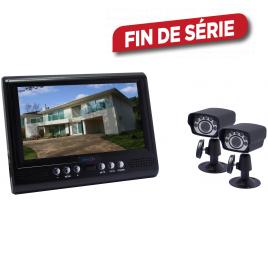 """Kit caméra filaire LCD 7"""" avec 2 caméras CMOS"""