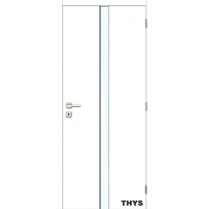 Bloc-porte à peindre S6 verre mat 83 cm THYS