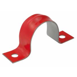 Attache pour câble électrique en acier rouge - 4/4 25mm² (5 pièces)