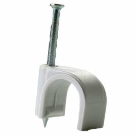 Attache pour câble rond grise - 14mm² (10 pièces)