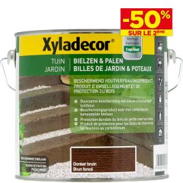 Lasure bois de jardin respirant brun foncé XYLADECOR