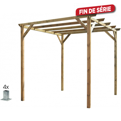 pergola en bois 3 x 3 x 2 46 m. Black Bedroom Furniture Sets. Home Design Ideas