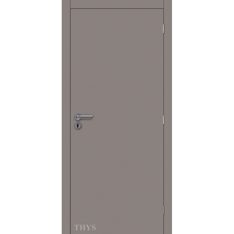 bloc porte fini laminado s63 gris mat 201 5 cm thys. Black Bedroom Furniture Sets. Home Design Ideas