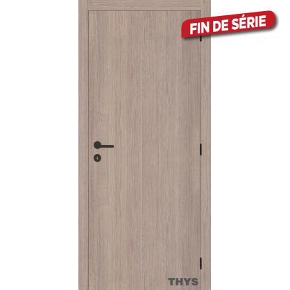 Bloc-porte fini Laminado S63 chêne gris vertical THYS