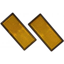Réflecteur orange pour remorque 90 x 40 mm 2 pièces