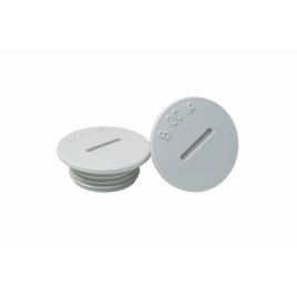 Bouchon rond M20 en PVC 2 pièces