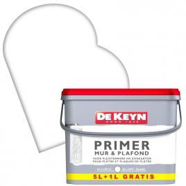 Peinture primer pour mur et plafond blanche 5 + 1 L DE KEYN