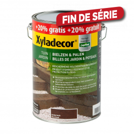 Lasure bois de jardin respirant brun foncé 5 + 1 L Promopack XYLADECOR