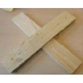 Pied de sapin croix en bois 70 cm