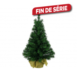 Sapin de table vert 45 cm avec pot en jute DECORIS