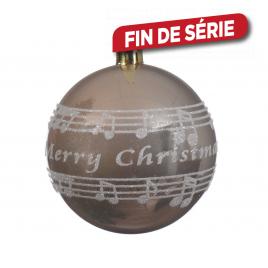 Boule de Noël Merry Christmas en paillette DECORIS